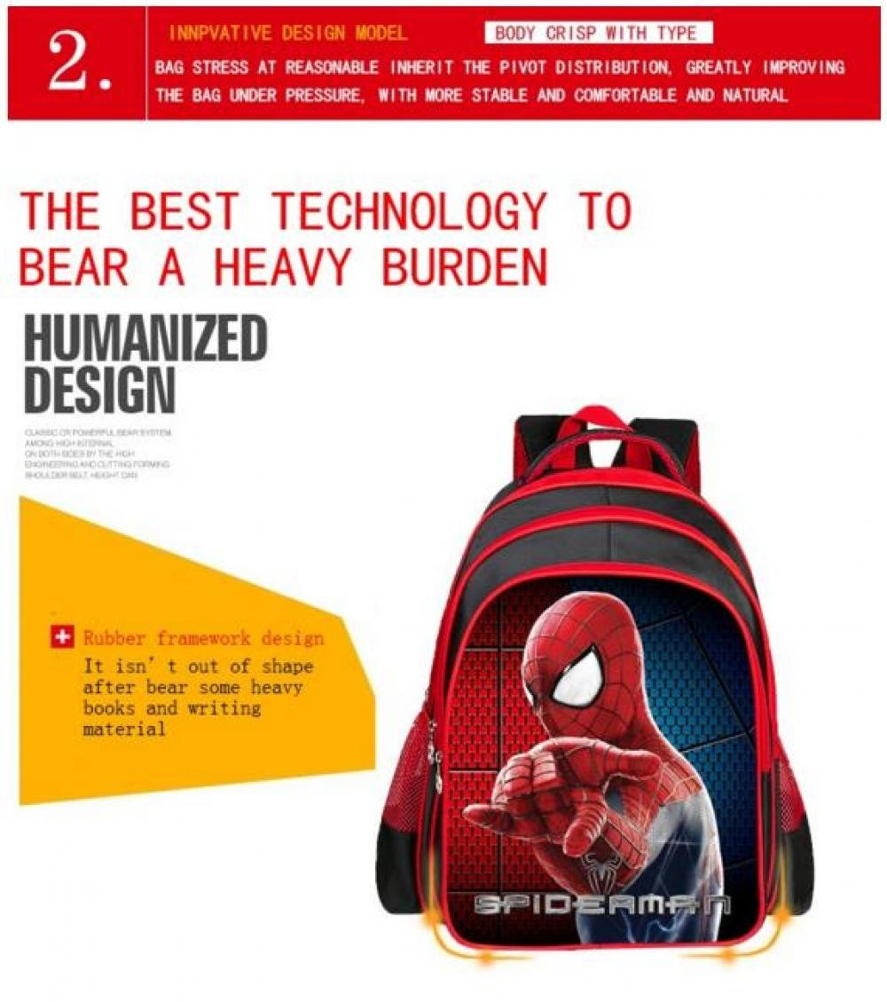 cfb3758bbd59 Amazon.com   Hot Cartoon Spiderman Backpacks For Kids Children School Bags  Primary Backpack Boy mochila cadeau enfant jouet (1PC