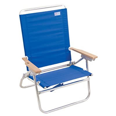 Rio Beach 4-Position Easy in-Easy Out Folding Beach Chair - Blue: Sports & Outdoors