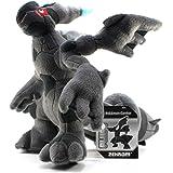"""12""""  Zekrom Pokemon Center Plush"""