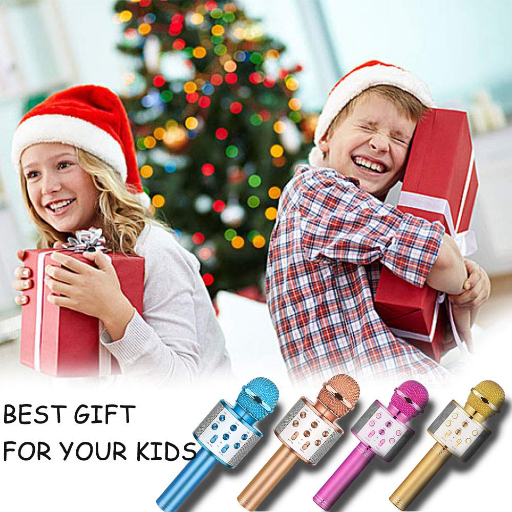 Toys For 5-14 Years Old Girl Gifts,Niskite Wireless Bluetooth Karoake Microphone For Kids Age 4-12,Best Fun Birthday Gifts For 6 7 8 9 10 Years Teens Girls Boys by Niskite (Image #7)