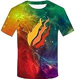 KUESANT Preston Fire Nation Playz Gamer Flame T Shirts for Boys Girls 3D Pinted Shirt Long Sleeve O Neck Tee Tops for Kids