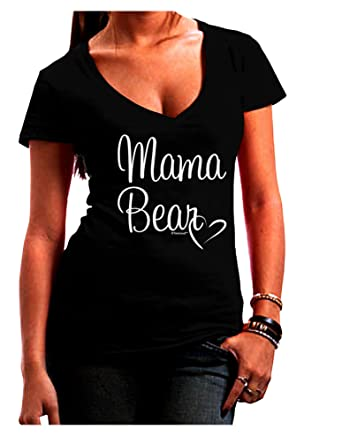 TooLoud Mama Bear with Heart Mom Design Infant T-Shirt Dark