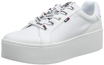 zlevněte se oficiální fotografie průhledný v dohledu Amazon.com | Tommy Hilfiger Tommy Jeans Flatform Sneaker ...