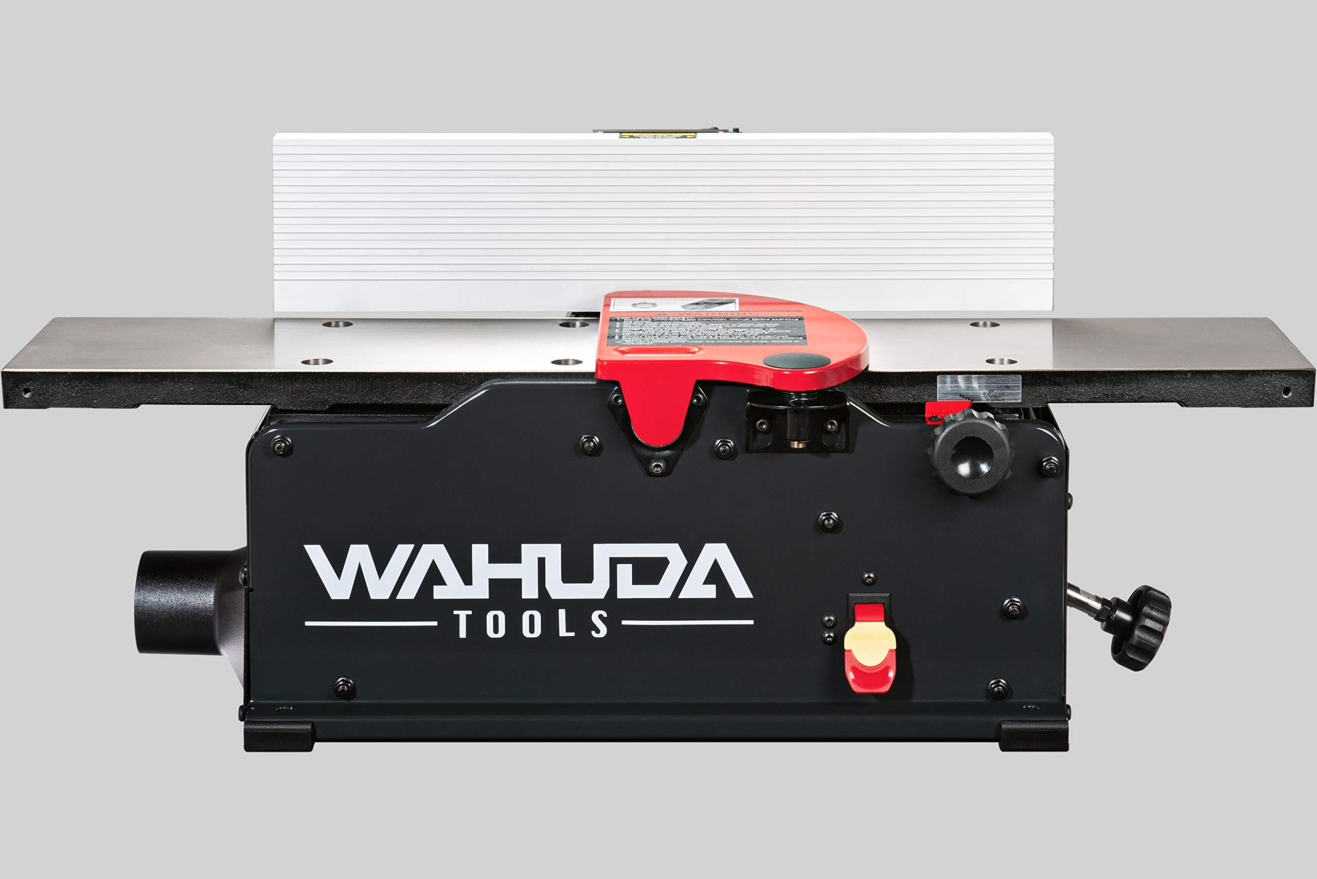 Wahuda Tools 50160CC-WHD (6 pulgadas) Ensambladora con cabezal de corte en espiral de sobremesa con mesa de hierro fundido y puntas de carburo de 4 lados instaladas