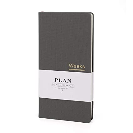 Weekly Pocket Planner Monthly Reminder Undated Notebook Life Planner Hobonichi Week -12 Months –Hard Cover