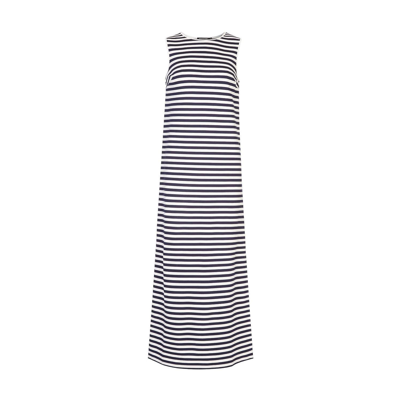 eb2ce0a53b3 MONOPRIX FEMME - Robe longue marinière sans manches - Femme - Taille   0 -  Couleur   MARINE-ECRU  Amazon.fr  Vêtements et accessoires