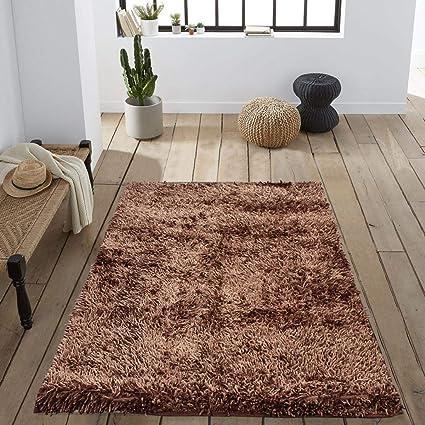 Cloth Fusion Premuim Shaggy Carpet for Living Room 3 Feet x 5 Feet (Taupe)