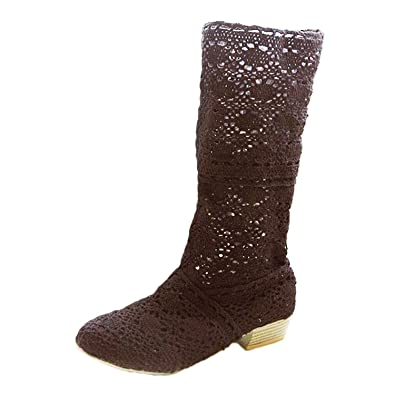 Nonbrand Damen Stiefel & Stiefeletten, Beige - Beige - Marrón - Größe: 37