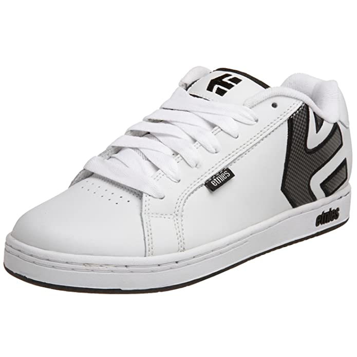 Etnies Fader Sneakers Skateboardschuhe Herren Weiß (schwarz/graues Logo)
