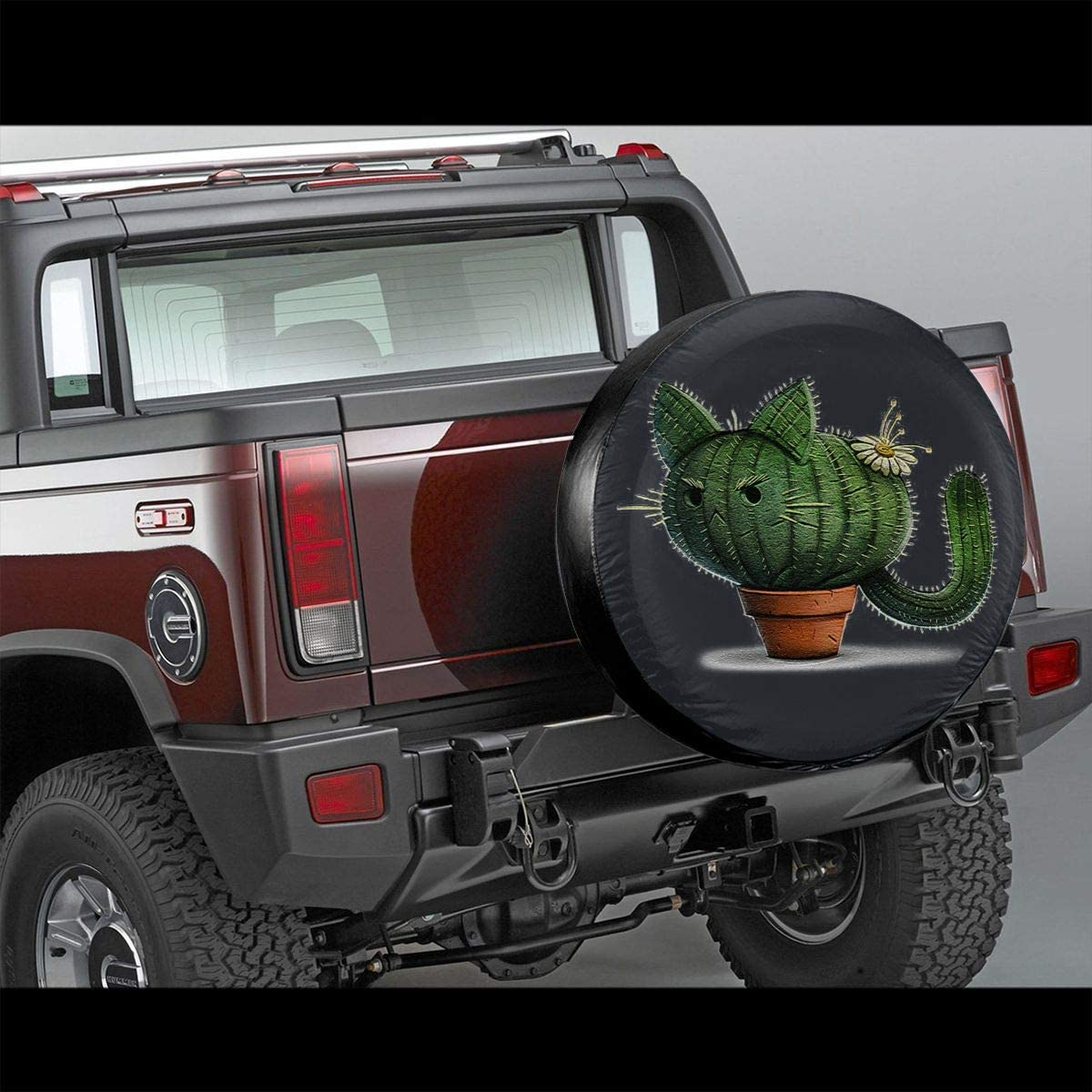 14,15,16,17 Inch Vbnbvn Cubierta de La Rueda de Repuesto Cactus Painting Universal Dust-Proof Corrosion Protection Wheel Covers for Jeep Trailer RV SUV Truck Camper Travel Trailer Accessories