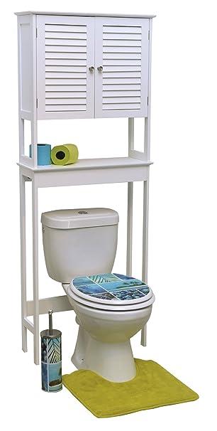 Toiletten Äberbau Fürs Badezimmer   2 Türen Und 1 Ablage   Kolonial Stil