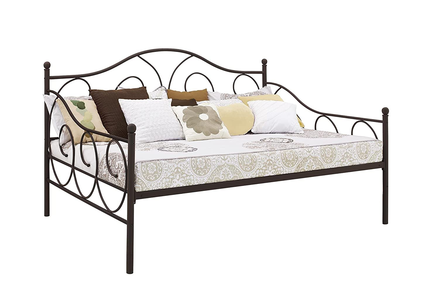 DHP Victoria Daybed, Full Size Metal Frame, Multi-functional Furniture, Bronze