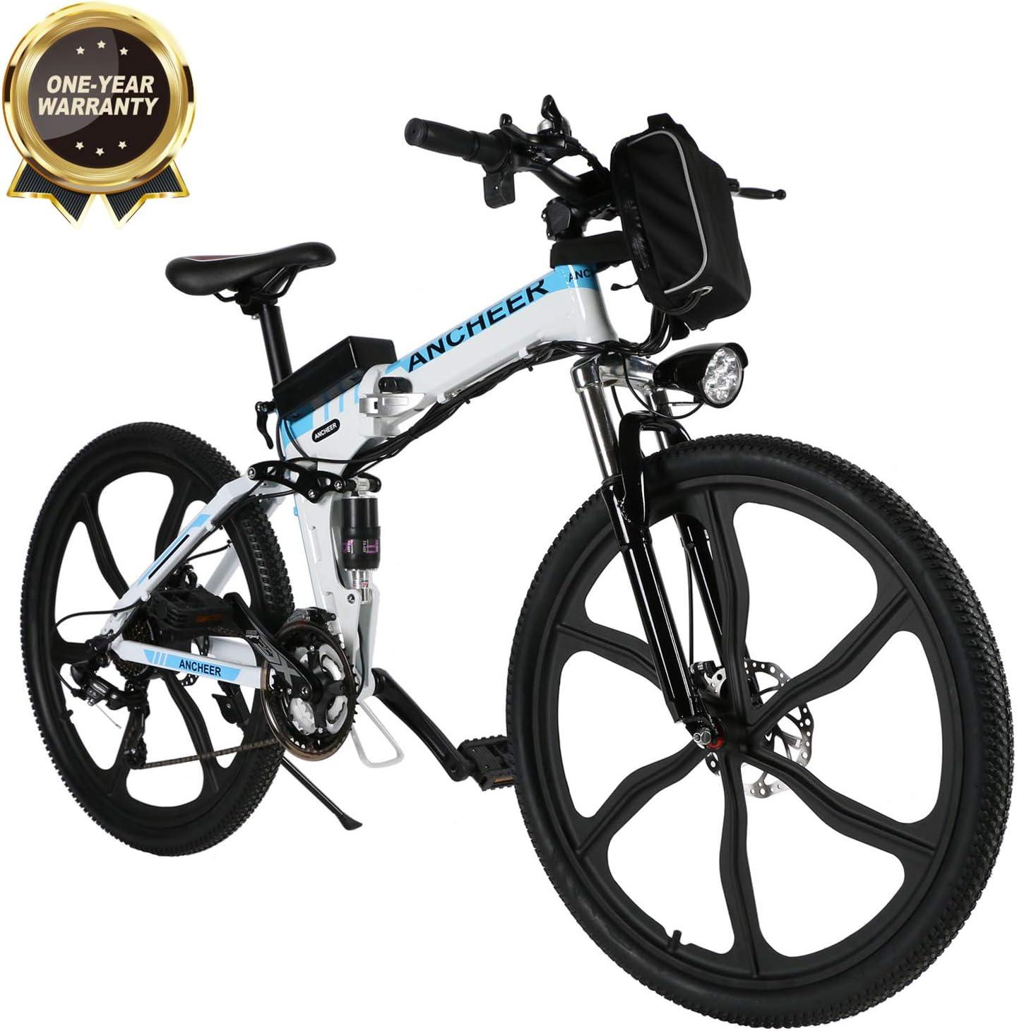 BIKFUN Bicicleta eléctrica Plegable, Bicicleta de Trabajo, E-Bike,Fold 20