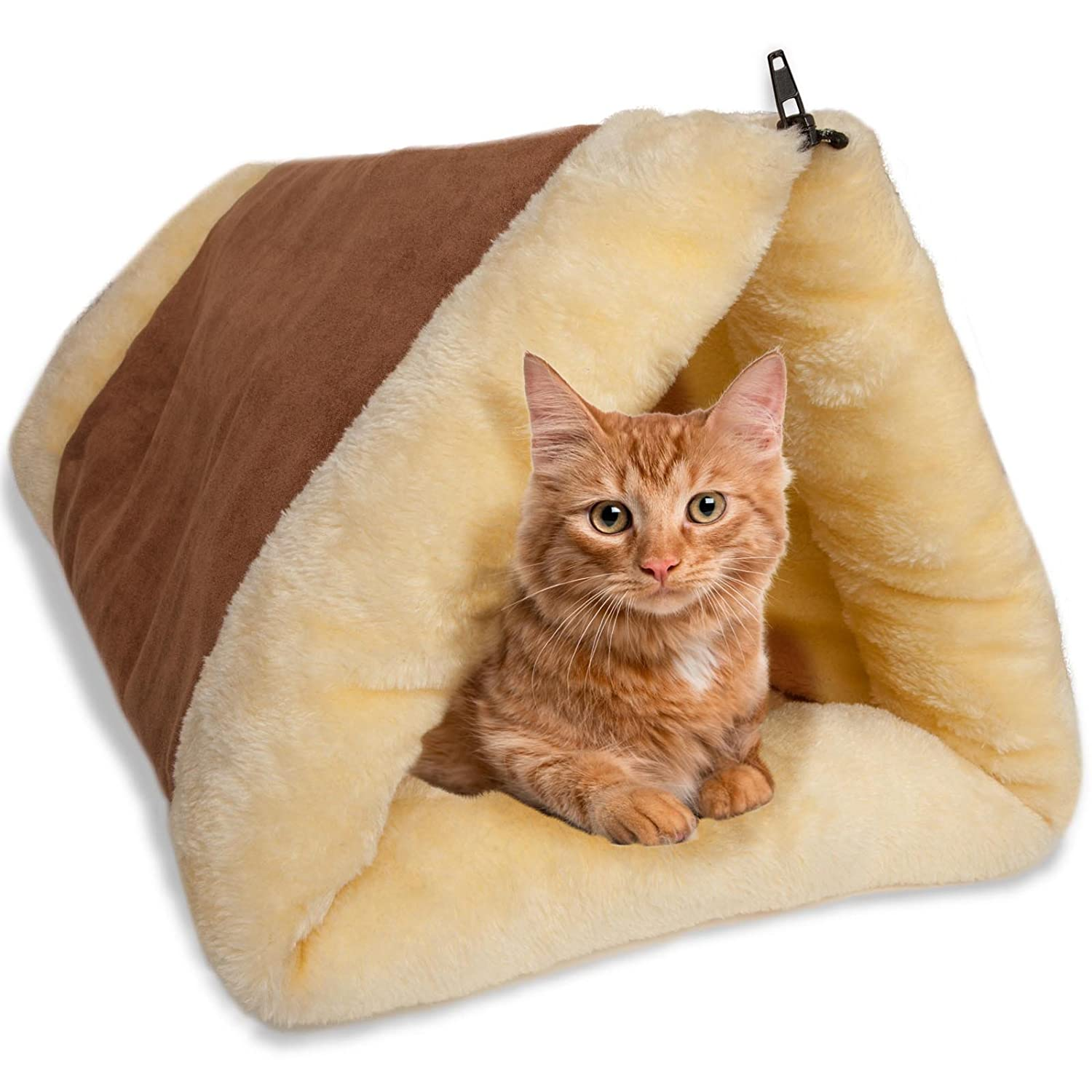 OxGord 2-in-1 Cat Pet Bed Tunn...