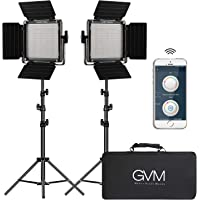 2-Pack GVM LED Video Lighting Kits With APP Control