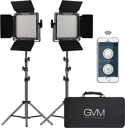 GVM 2 Pack LED Video Lighting Kit