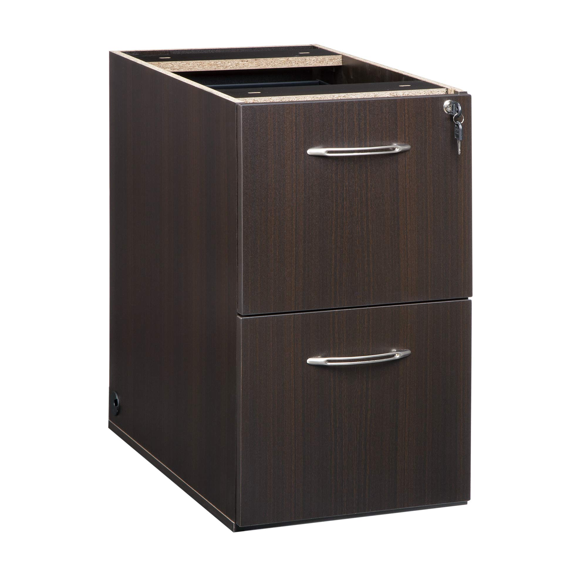 Mayline AFF20LDC Aberdeen 20''D Pedestal FF,for use with Credenza, Return, and Extended Corner, sold separately, Mocha Tf
