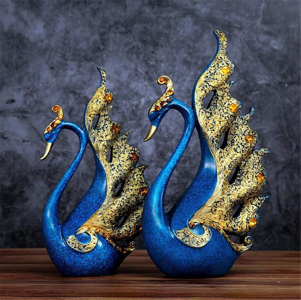 AILEYOU R/ésine D/écoration Statue Artisanat Cr/éatif Sculpture Ornements De Bureau Salon Caf/é des Gamins Cadeaux /Él/égant Couple Cygne