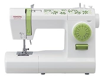 Toyota ECO15CG - Máquina de coser, 65 W, 15 programas, color blanco y verde: Amazon.es: Hogar