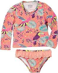 OFFCORSS Toddler Girl Long Sleeve Tankini Two Piece Swimsuit | Vestido de Baño