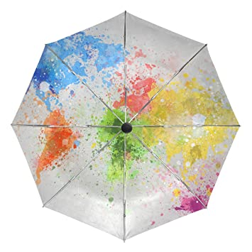 Baihuishop world map painting windproof rain umbrellas auto open baihuishop world map painting windproof rain umbrellas auto open close 3 folding strong durable compact travel gumiabroncs Images
