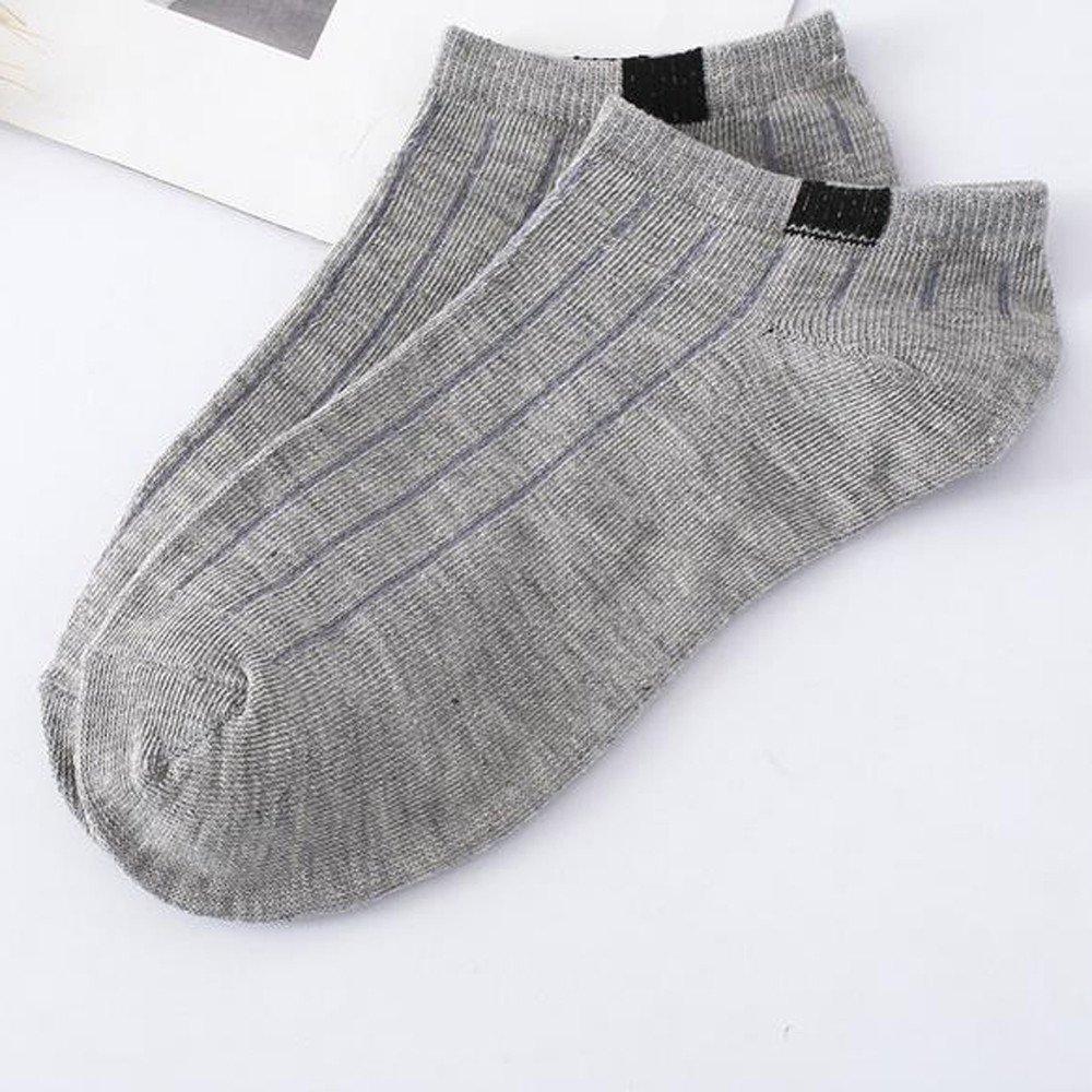 HULKAY Unisex Socks Upgrade Comfortable Stripe Cotton Crew Sock (1 Pairs)(Gray) by HULKAY (Image #2)