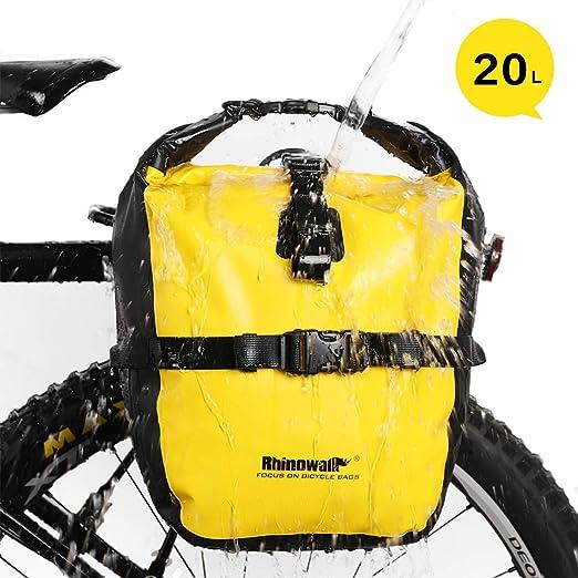 GAOJR 20L Impermeable Alforja para Bicicleta Asiento Trasero ...