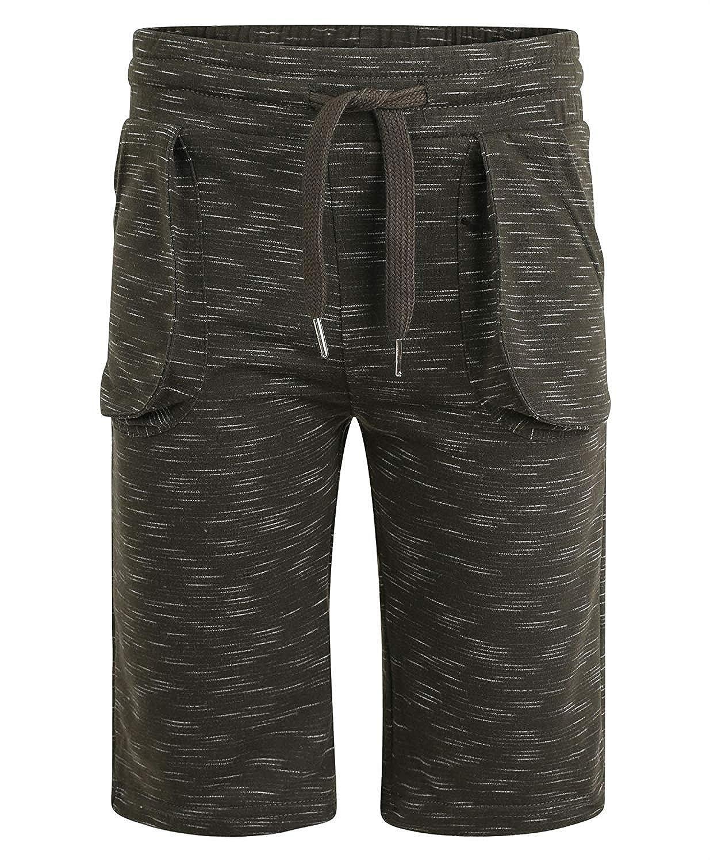 LotMart Boys Jersey Shorts Marl Print Pattern