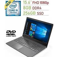 "Lenovo Premium 15.6"" FHD (1920x1080) Display Laptop PC, Intel i5-7200U 2.5Ghz Processor, 8GB DDR4, 256GB SSD, Backlit keyboard, Bluetooth, DVD-RW, Fingerprint Reader, Windows 10 Pro"