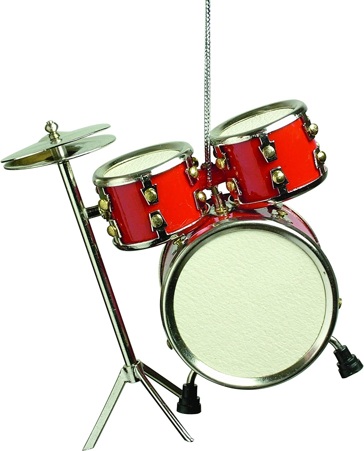 """Musical Instrument Christmas Ornament (3"""" Red Drum Set)"""