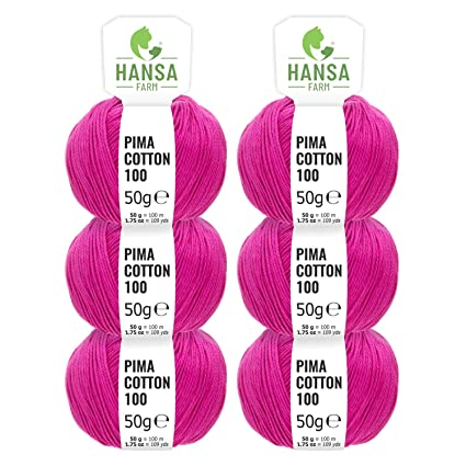 Katia Pima Cotton 50g Fb Rosa 10