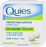 QUIES - protection auditive cire naturelle - boite de 8 paires