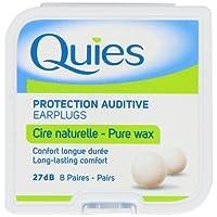 Quies Earplug Natural Wax, 8-Pairs