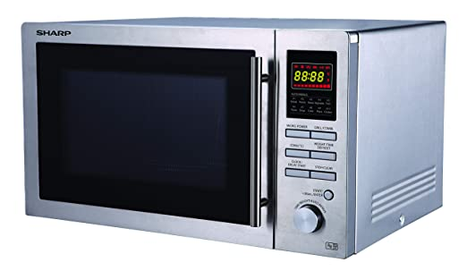 Sharp - Horno microondas (25 l, 900 W, acero inoxidable)