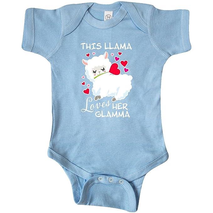 6ff91983c inktastic This Llama Loves her Glamma Infant Creeper Newborn Baby Blue 2ea97