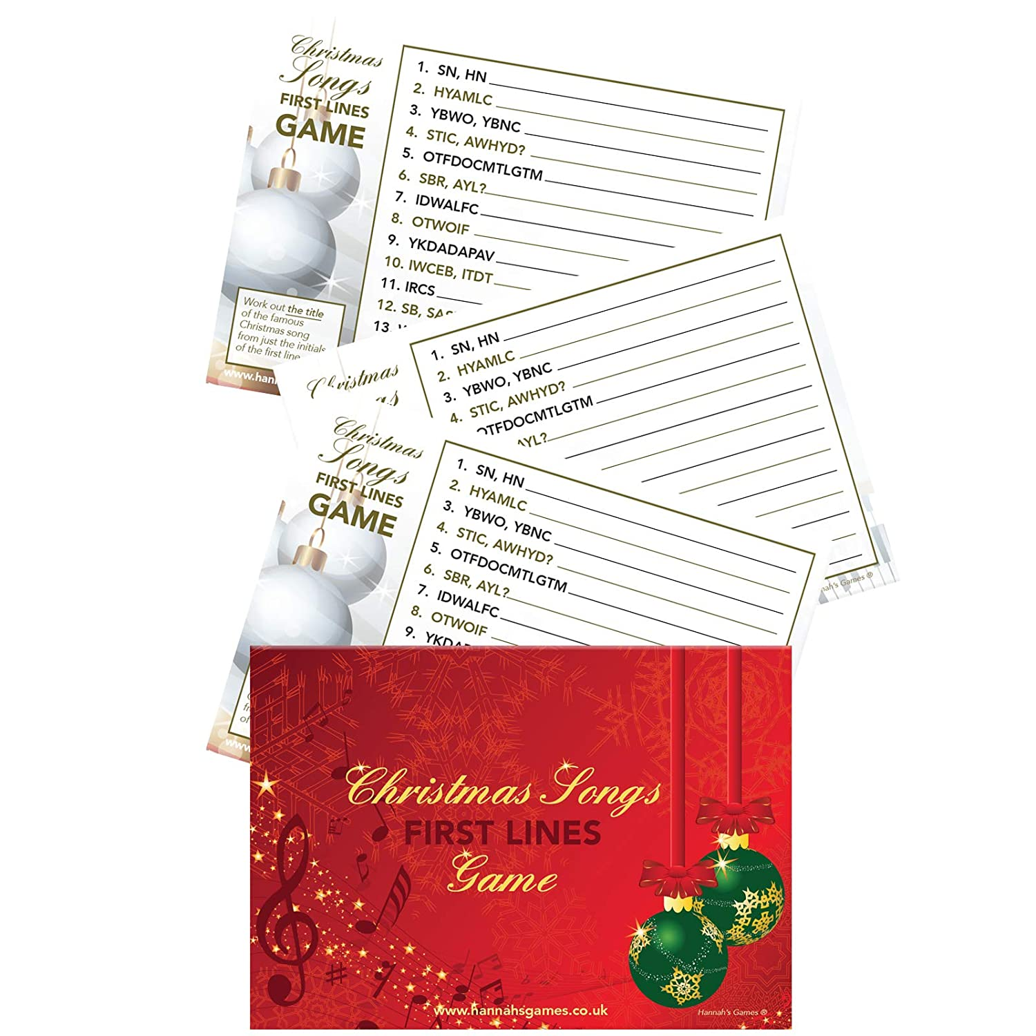 Christmas Songs First Letters Game - Christmas Games for families ...