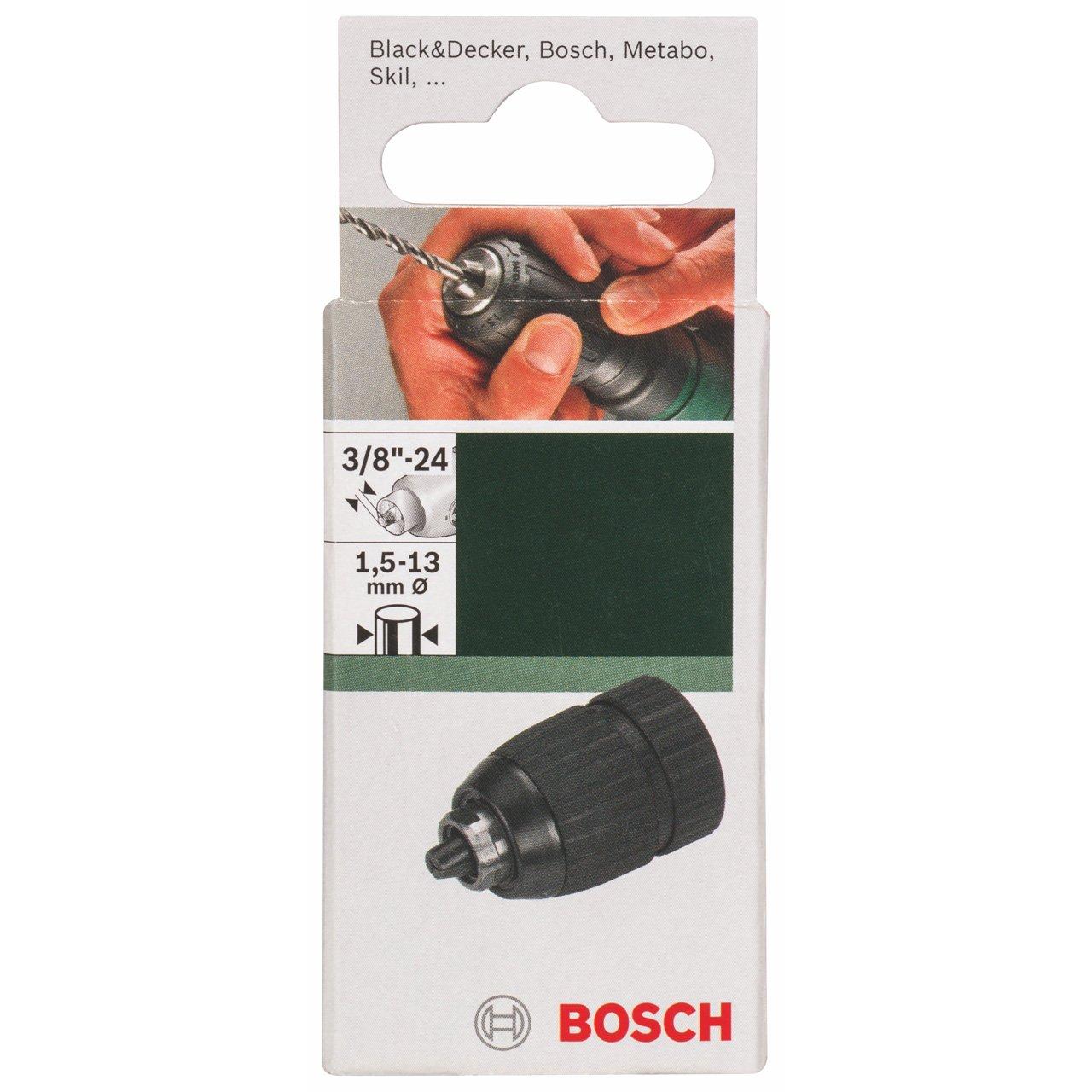 Bosch 2609255707 1.5-13mm 3//8-inch x 24-Thread Keyless Chuck