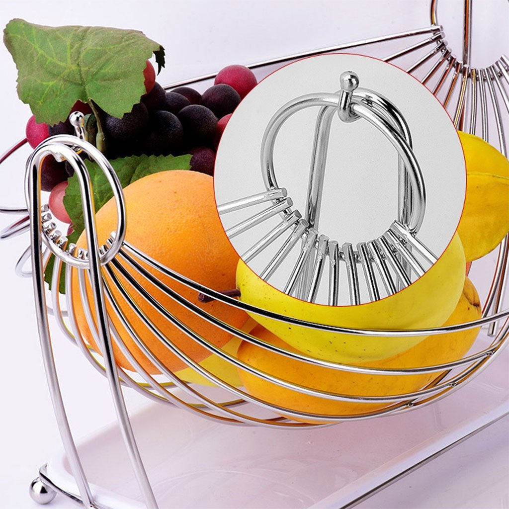 He Xiang Ya Shop Stainless steel drain rack living room fruit plate vegetable drain basket snack cradle by He Xiang Ya Shop (Image #4)