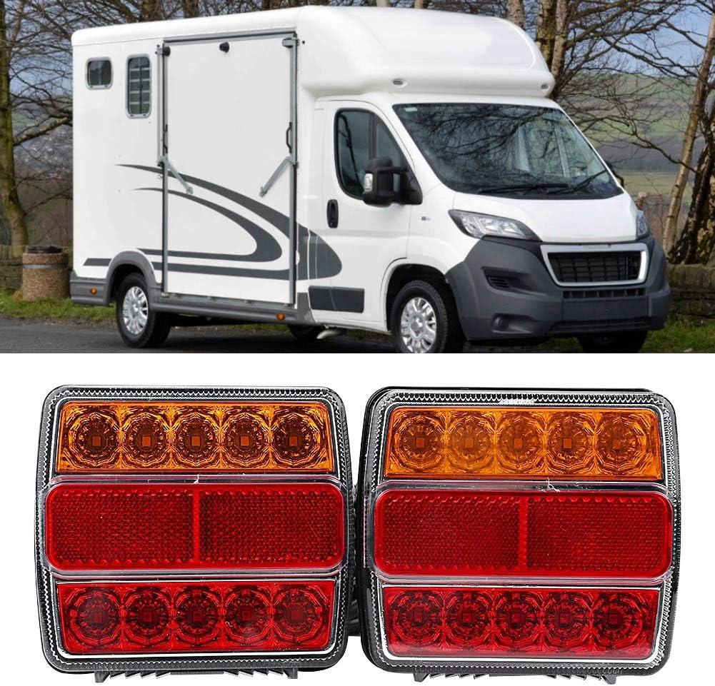 Luce rimorchio coppia set 12V Kit rimorchio camion impermeabile LED Lampada evidenziare indicatore di stop fanale posteriore