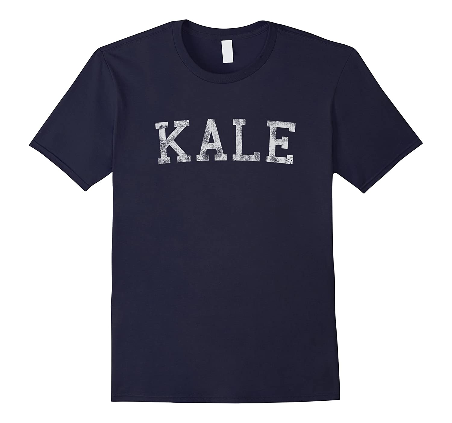 Retro Kale University Funny Vegan T-Shirt-CD