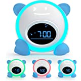 Kids Alarm Clock, Windflyer Toddlers Alarm Clock Children Sleep Trainer Clock with Facial Expressions, Night Light, Nap Timer