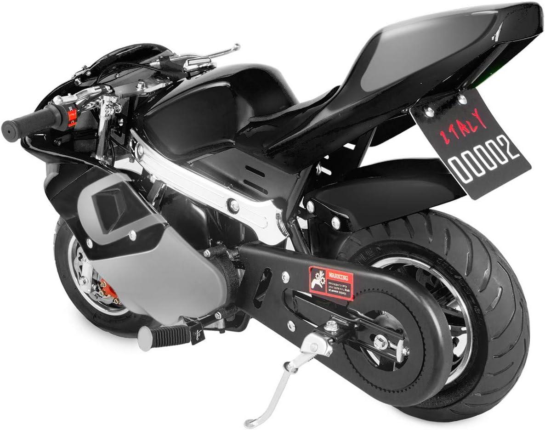 US Stock - 49cc Mini Gas Power Pocket Bike Motorcycle 4-Stroke Engine Motorcycle Holeshot Off Road Motorcycle for Kids Teenagers