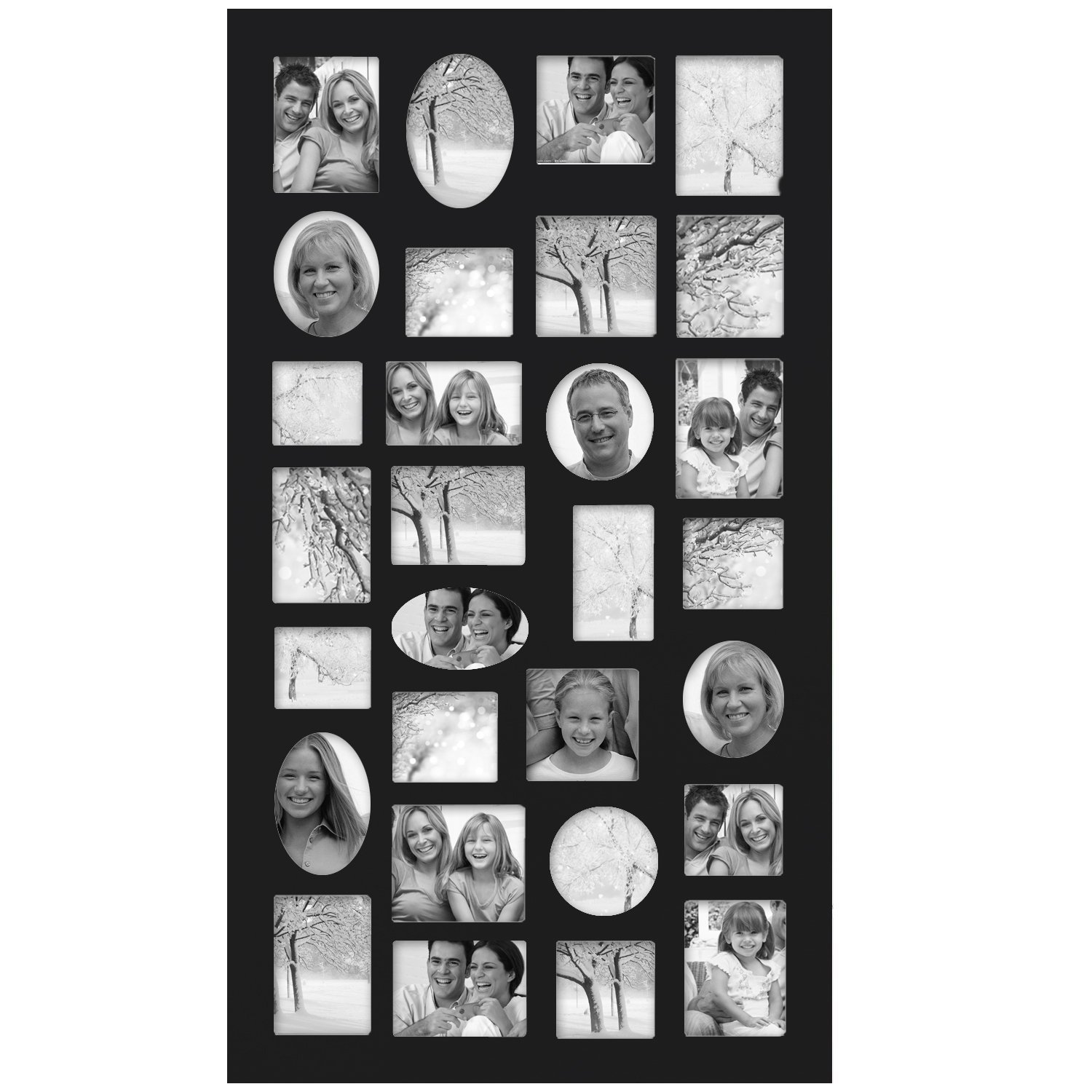 Amazon adeco pf9105 decorative black wood wall hanging amazon adeco pf9105 decorative black wood wall hanging collage picture photo frame 29 openings various sizes between 325x275 and 45x4 jeuxipadfo Gallery
