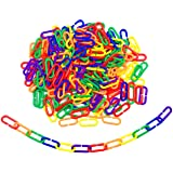 Hyamass 200pcs Link C-Clips Hooks Chain Links C-Links Children's Learning Toy Small Pet Rat Parrot Bird Toy
