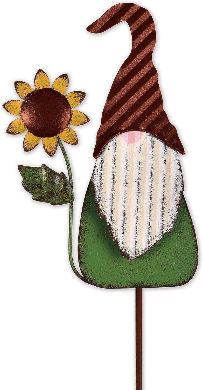 Sunset Vista Sunflower Gnome Plant Pick