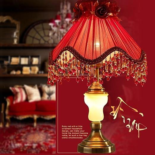 Las rosas rojas creativo romántico estilo pastoral de tela lámpara ...