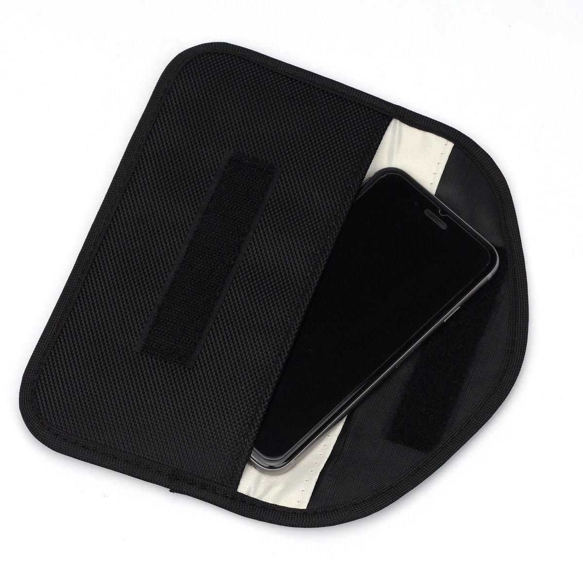 Fob Guard Keyless Entry Remote RFID HISU Faraday Cage Shield Car Key Fob Signal Blocking Pouch 20 x 10 cm Faraday Bag RFID Key Fob Antitheft Lock Devices Protector WiFi//GSM//LTE//NFC//RF Blocker
