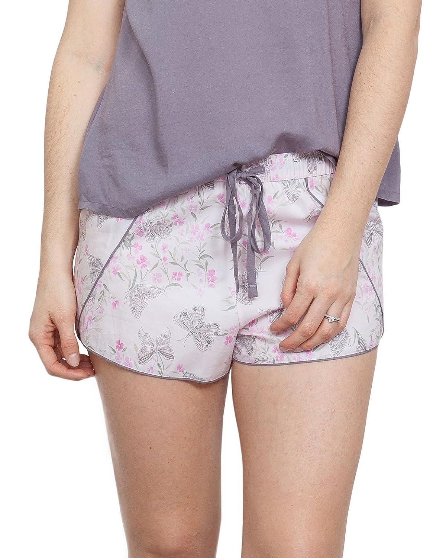 TALLA 42. Cyberjammies 3771 Women's Sienna Pink Floral Pajama Pyjama Short