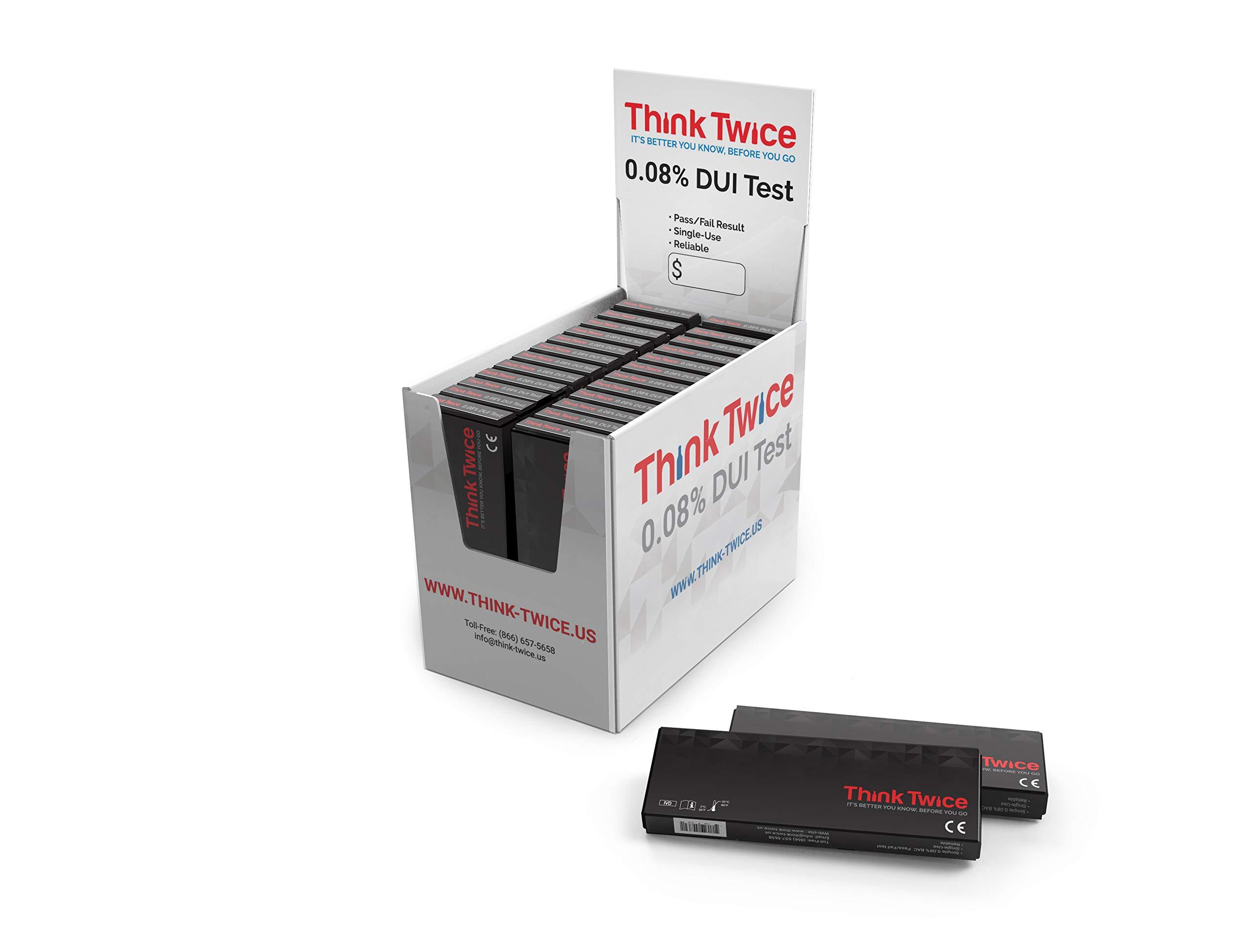 Think Twice Single-Use 0.08% BAC Test - 24 Count Box