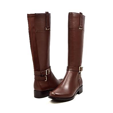 Amazon.com   Solemani Gabi Women's Brown Leather X-Slim Calf ...